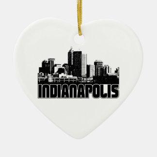 Indianapolis Skyline Christmas Ornament