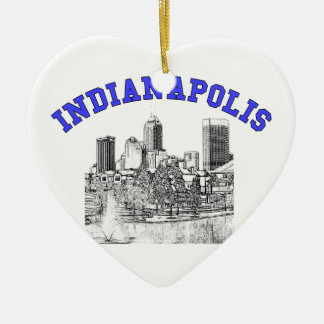 Indianapolis Skyline Christmas Ornaments