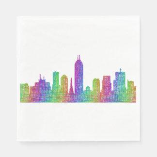 Indianapolis skyline disposable serviette