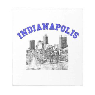 Indianapolis Skyline Notepad