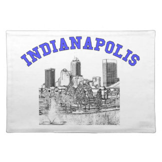 Indianapolis Skyline Place Mat