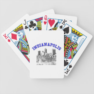 Indianapolis Skyline Bicycle Poker Deck