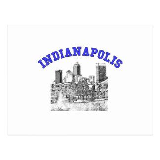 Indianapolis Skyline Postcard