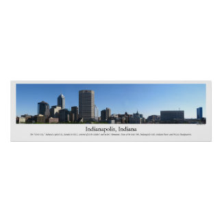 Indianapolis Skyline Poster