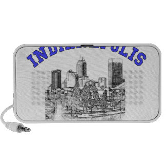 Indianapolis Skyline Notebook Speaker