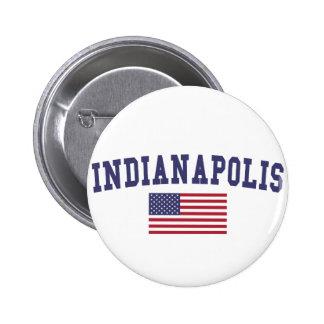 Indianapolis US Flag 6 Cm Round Badge