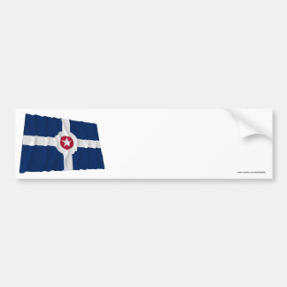 Indianapolis Waving Flag Car Bumper Sticker