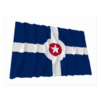 Indianapolis Waving Flag Postcard
