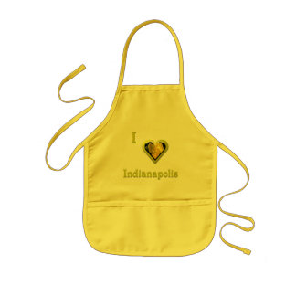 Indianapolis -- with Yellow Flower Kids' Apron