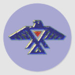 Indianer native american anishinabe ojibwe ojibwa runder sticker
