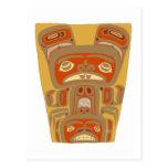 Indianer Native American Holzmaske wooden mask Postkarten
