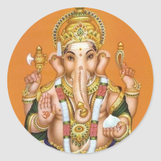 indianGod Classic Round Sticker