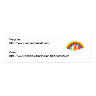 Indianola Alternative Cards Pack Of Skinny Business Cards