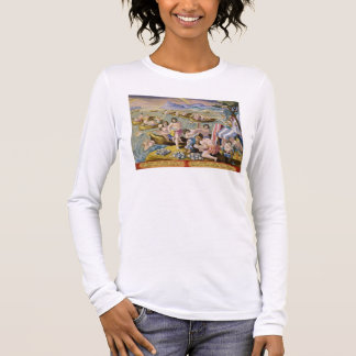 Indians diving for pearls, plate 93 from 'Venation Long Sleeve T-Shirt