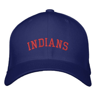 INDIANS EMBROIDERED HAT