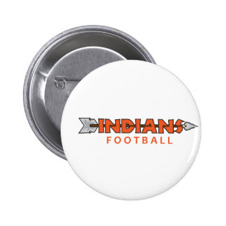 INDIANS FOOTBALL 2 INCH ROUND BUTTON