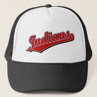 Indians in Red Trucker Hat