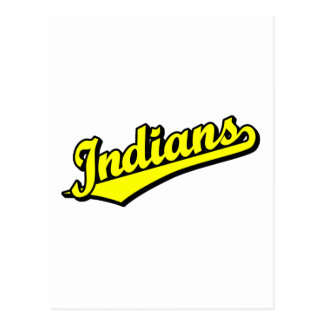 Indians in Yellow Post Card