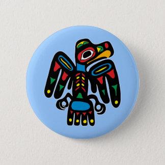 Indians native American raven raven 6 Cm Round Badge