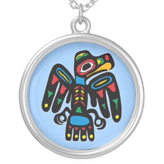 Indians native American raven raven Silver Plated Necklace