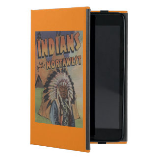 Indians of the Northwest - Indian Chief & Teepee Cover For iPad Mini