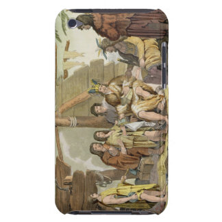 Indians trading with La Perouse in Canada (colour iPod Touch Cover