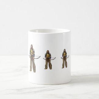 indians with bow coffee mug