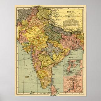 IndiaPanoramic MapIndia Poster