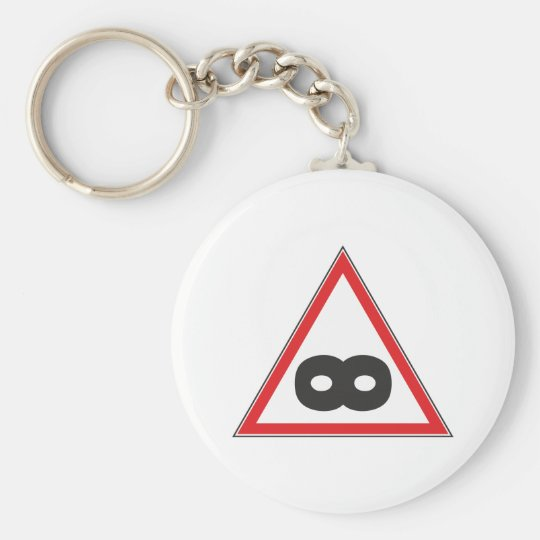Indication sign infinite infinity basic round button key ring