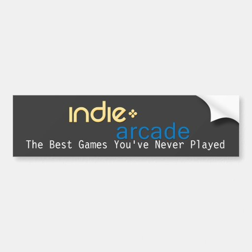Indie Arcade: The Best Games You've Never Played Bumper Stickers