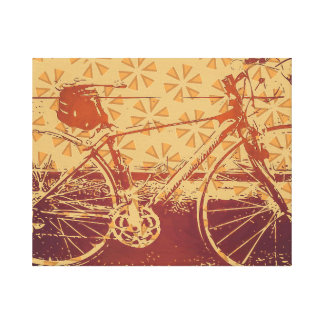 Indie bike design canvas print