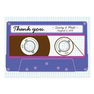 Indie Mixtape Indigo Purple Wedding Favor Tags Business Cards