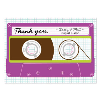 Indie Mixtape Purple Lime Wedding Favor Tags Business Card