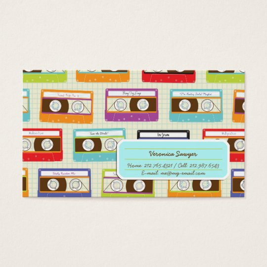 Indie Mixtapes Retro 80s Cassette Tape Pattern Business