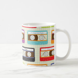 Indie Mixtapes Retro 80s Cassette Tape Pattern Coffee Mug