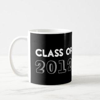 Indie style drawn on black graduation class year classic white coffee mug