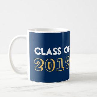 Indie style drawn on navy graduation class year basic white mug
