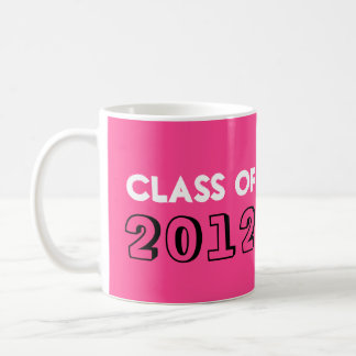 Indie style drawn on pink graduation class year basic white mug