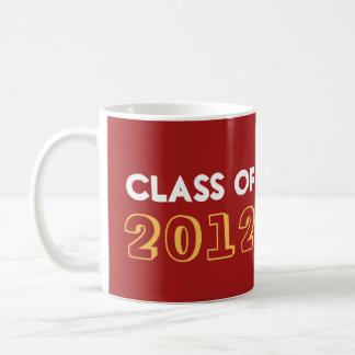 Indie style drawn on red graduation class year basic white mug