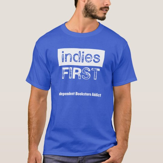 Indies First - blue t-shirt, mens T-Shirt