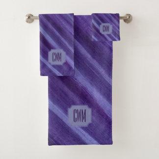 Indifferent Bath | Monogram Purple Violet Lilac | Bath Towel Set