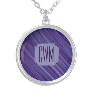 Indifferent Bling | Monogram Purple Lavender Lilac Silver Plated Necklace