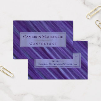 Indifferent Office | Purple Lavender Lilac Plum | Business Card