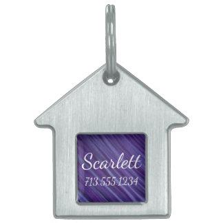 Indifferent Pet Lilac Violet Plum Grape Purple Pet Name Tag