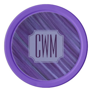 Indifferent Play | Monogram Purple Violet Lilac | Poker Chips