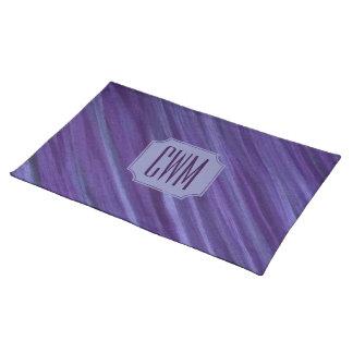 Indifferent Table   Monogram Purple Violet Lilac   Placemat