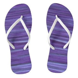 Indifferent Unique Lavender Violet Lilac Purple Flip Flops