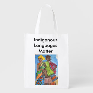 Indigenous Languages Matter Reusable Grocery Bag