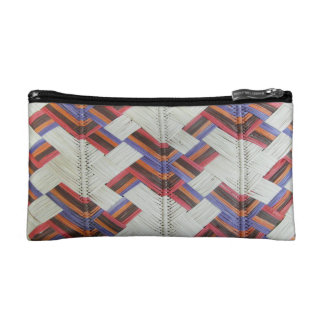 Indigenous weave cosmetic bag
