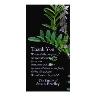 Indigo 1 Floral Photography - Sympathy Thank You Custom Photo Card